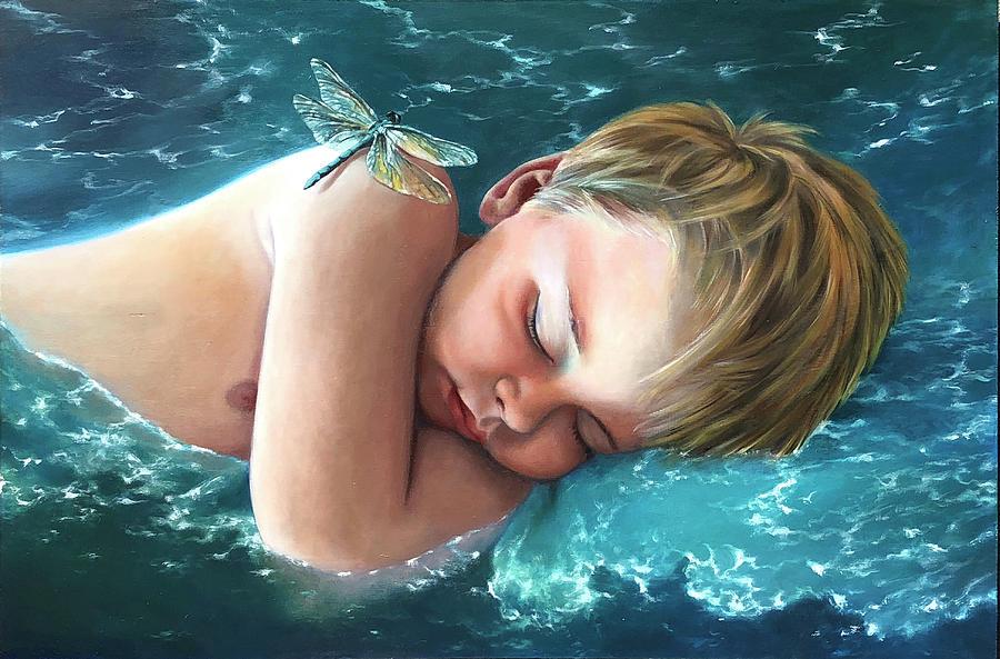 Cerulean Slumber by Melanie Stimmell Van Latum