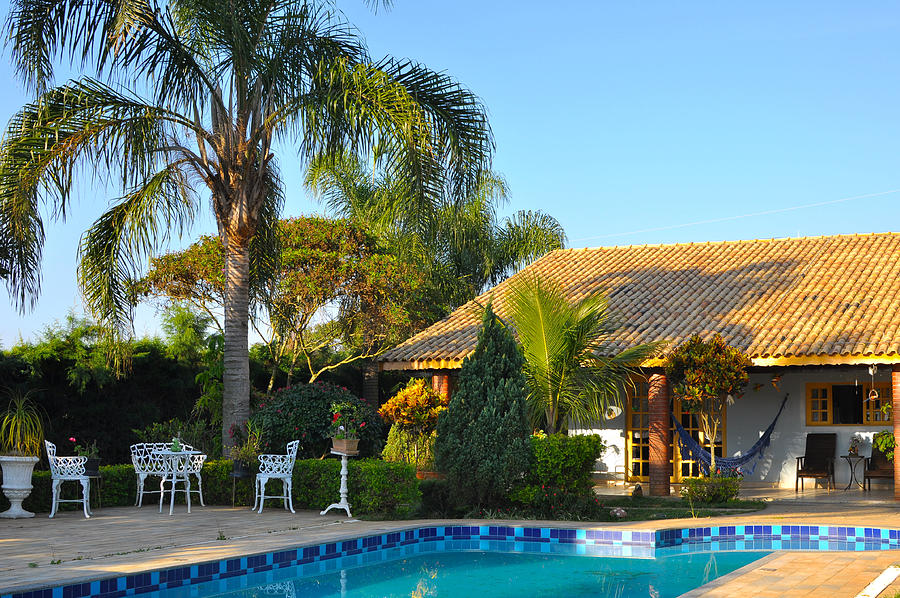 Chacara country house with pool Photograph by Markus Daniel