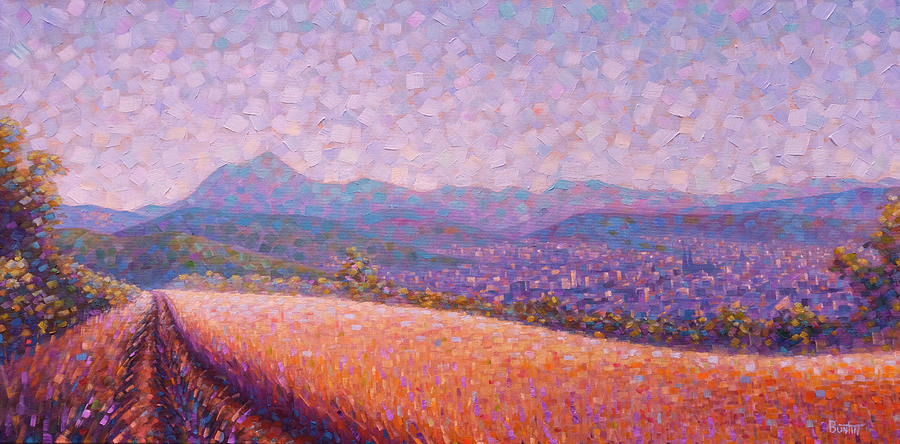Auvergne Painting - Chaine des Puys by Rob Buntin
