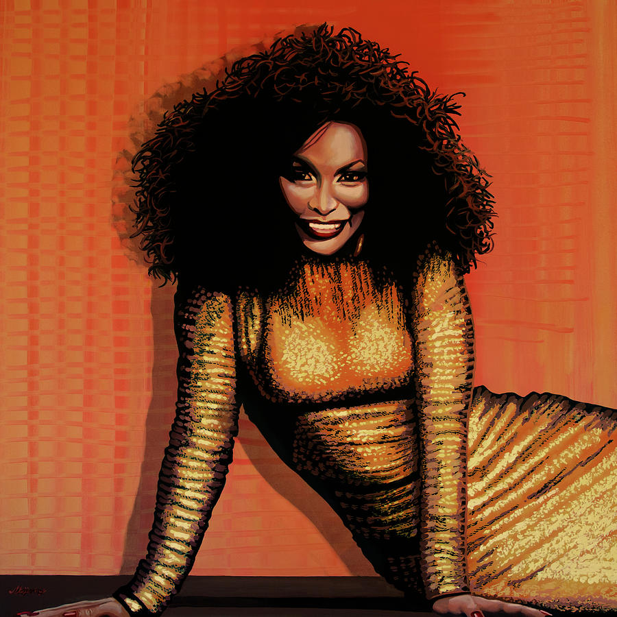 Chaka Khan Painting by Paul Meijering