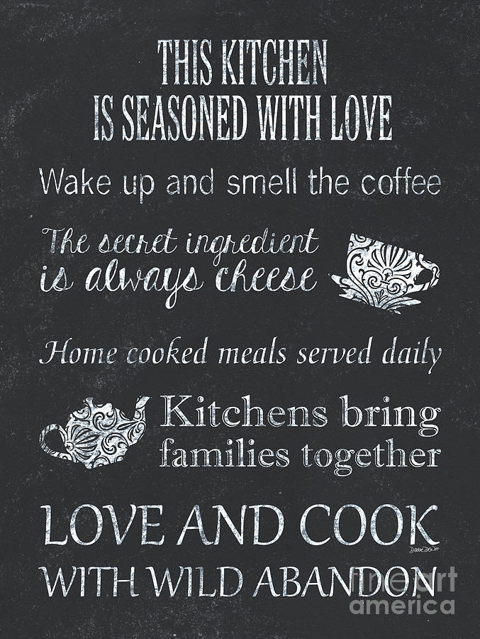 Chalkboard Kitchen Typography Painting