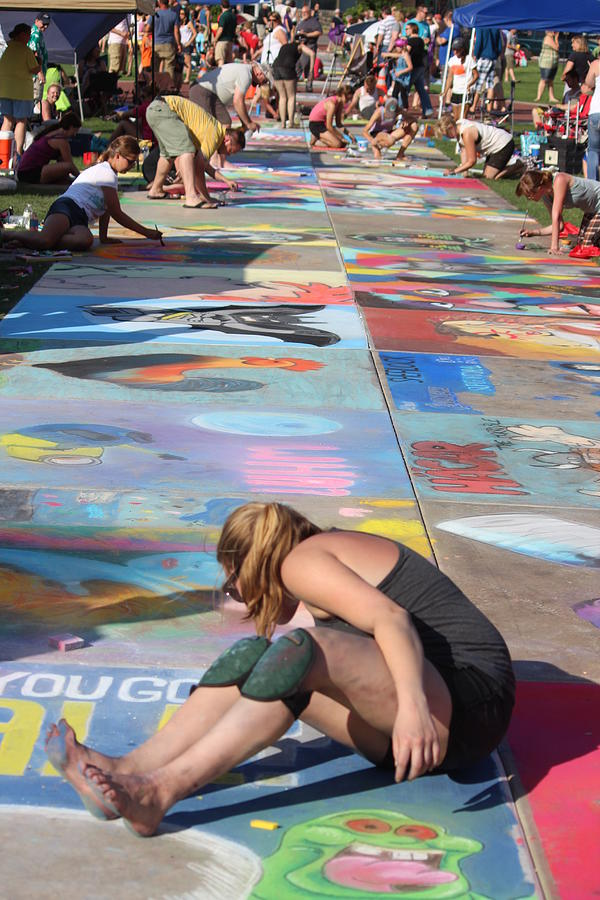 Wausau Photograph - Chalkfest, Wausau, Wisconsin by Callen Harty