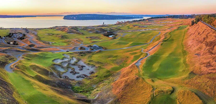Chambers Bay Golf Panoramic by Mike Centioli