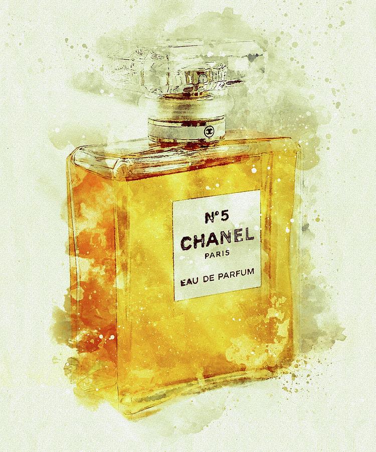 Chanel No. 5 In Watercolor Digital Art