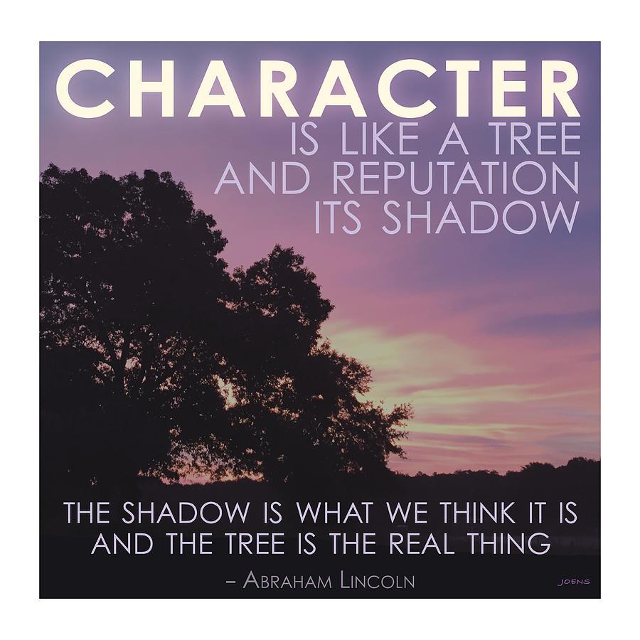 Character Is Like A Tree Digital Art