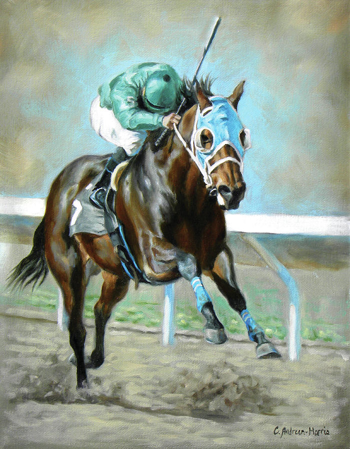 Charge To The Wire Painting