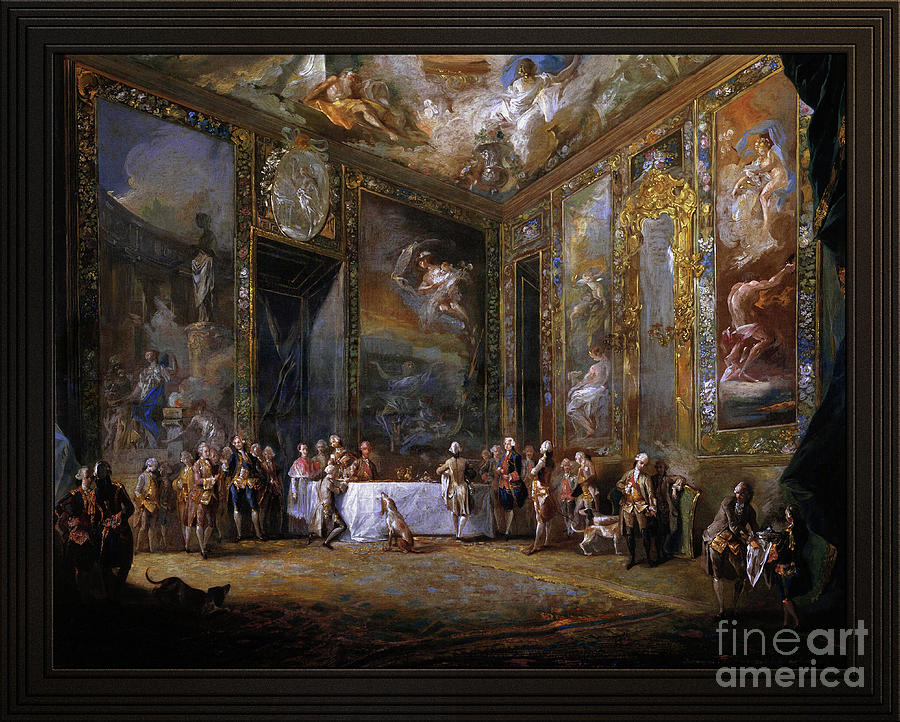 Charles III Dining Before The Court by Luis Paret y Alcazar by Xzendor7