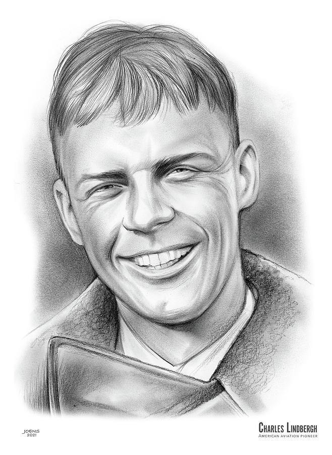 Charles Lindbergh - Pencil Drawing