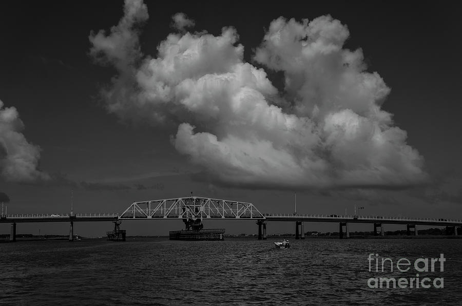 Charleston Bridges - Ben Sawyer Swing Bridge - Lowcountry Cruising Photograph