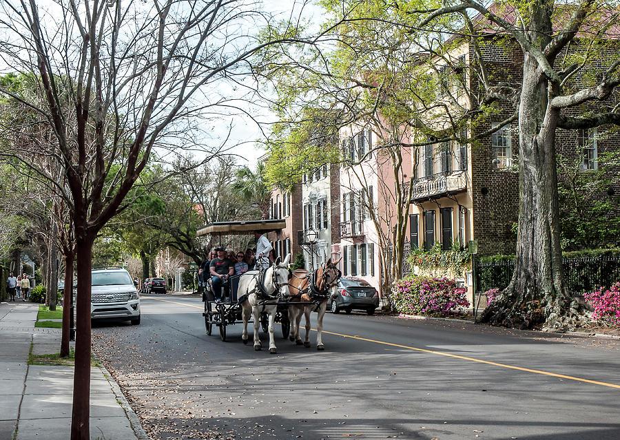 Charleston Photograph - Charleston Carriage Tour by Norman Johnson