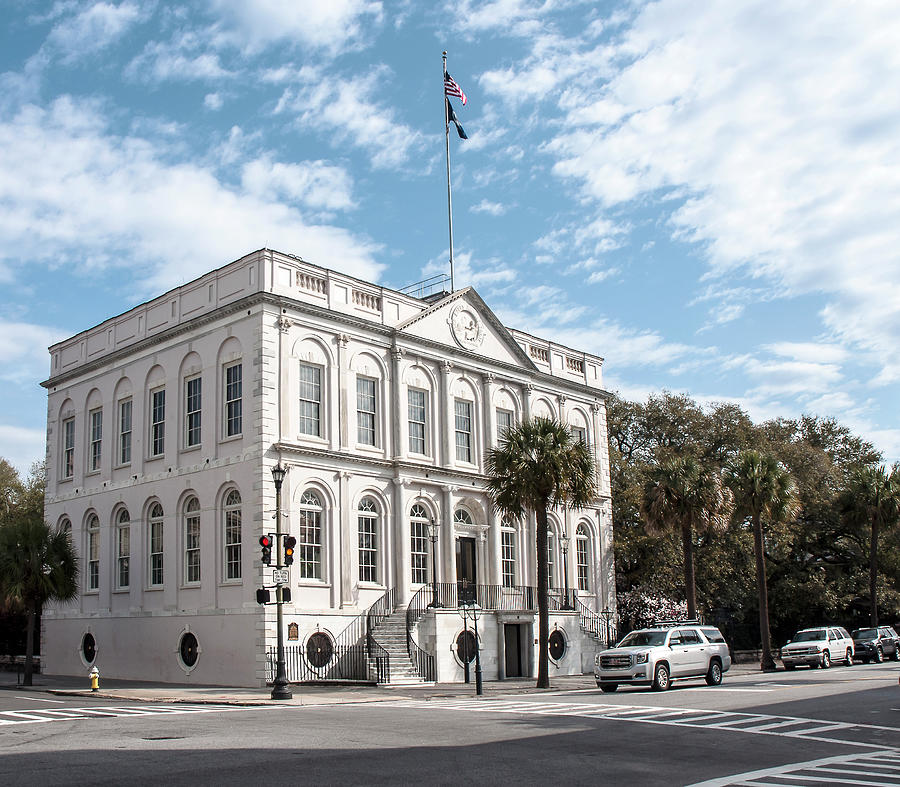 Architecture Photograph - Charleston City Hall by Norman Johnson