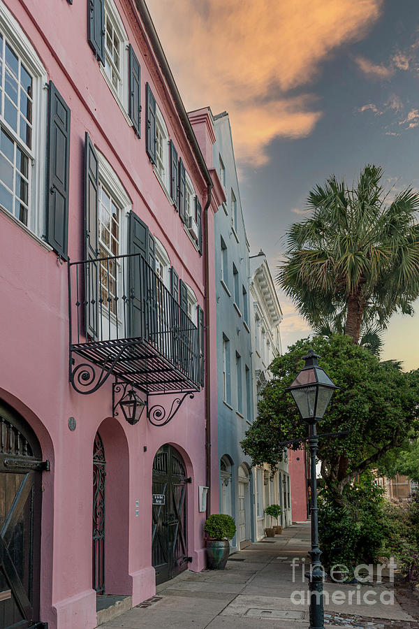 Charleston - Historic- Rainbow Row Photograph