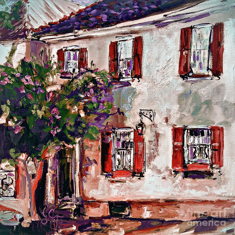 Charleston House Historic South Carolina Architecture Painting by Ginette Callaway
