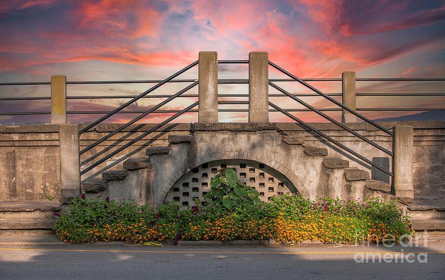 Charleston Sunset - Battery Steps Photograph