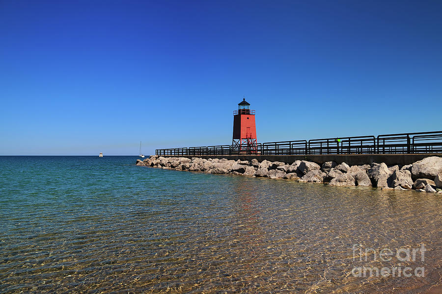 Charlevoix Light On Clear Water Photograph