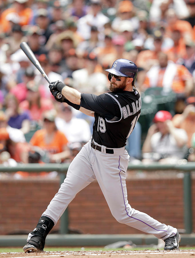 Charlie Blackmon Photograph by Ezra Shaw