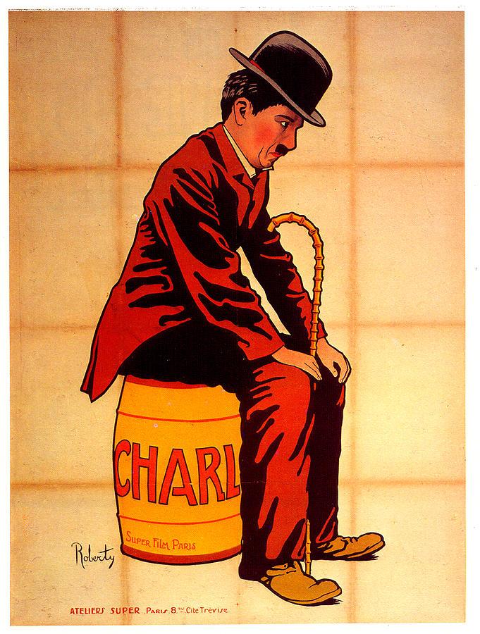 charlie Chaplin Poster 1917 Mixed Media
