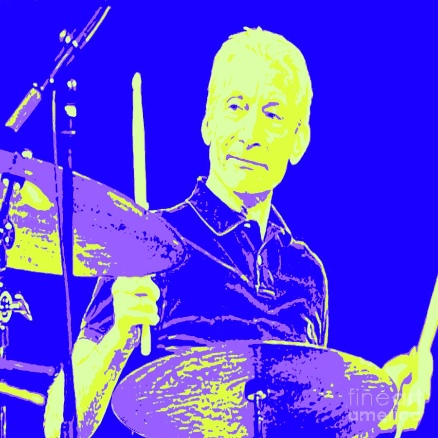 Rolling Stones Painting - Charlie Watts by Jack Bunds