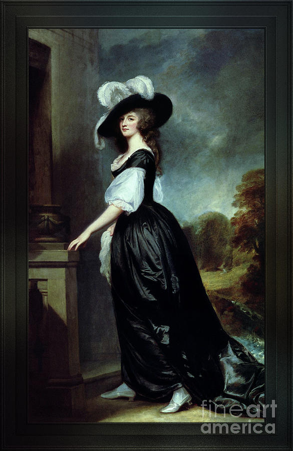 Charlotte, Lady Milnes by George Romney Classical Art Old Masters Reproductions by Xzendor7