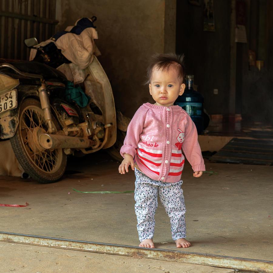 Charming Baby Girl in Sapa, Vietnam by Dubi Roman