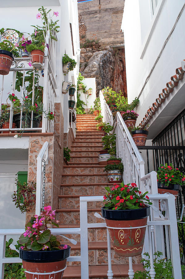 Charming Tiny White Streets Of Mijas Photograph