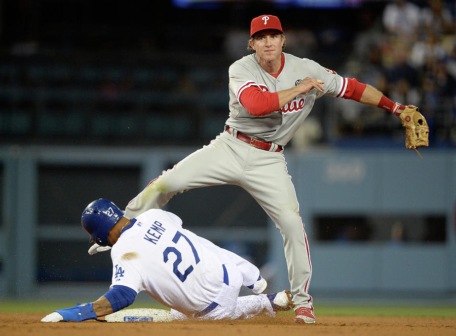 Chase Utley and Matt Kemp Photograph by Harry How