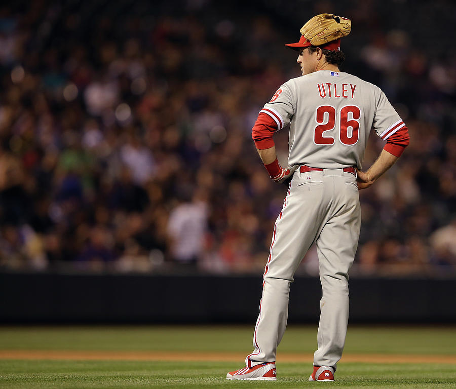 Chase Utley Photograph by Doug Pensinger