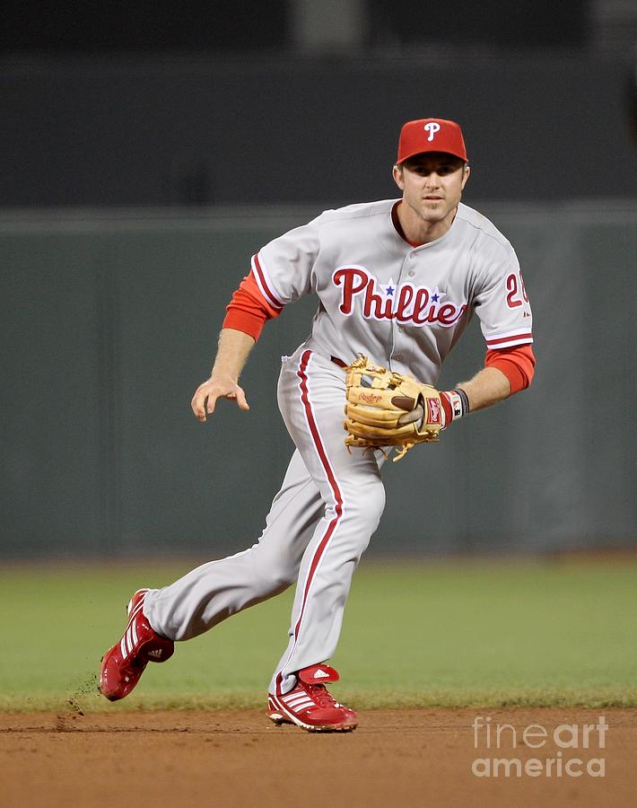 Chase Utley Photograph by Ezra Shaw