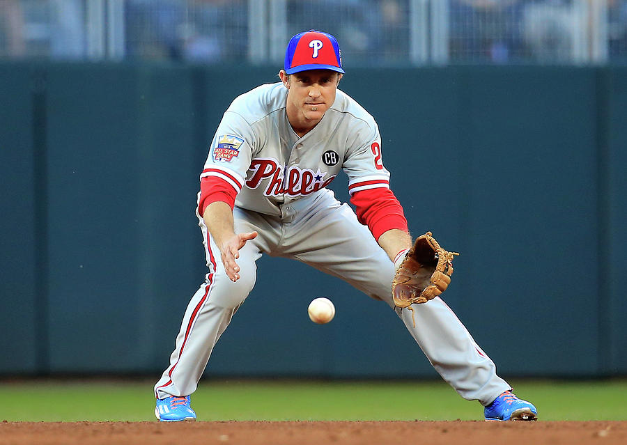 Chase Utley Photograph by Rob Carr