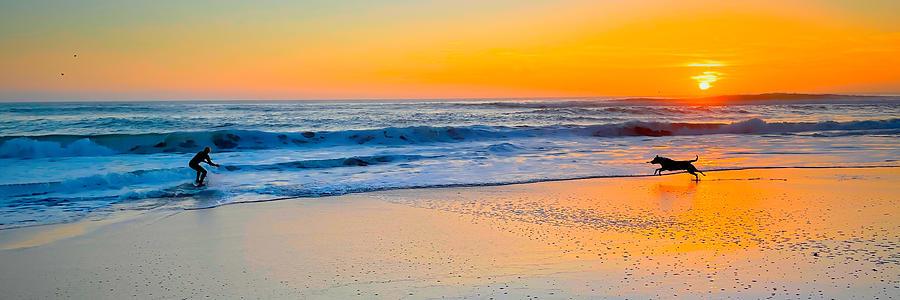 Chasing Waves Panorama Photograph