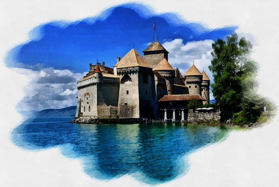 Chateau Over The Water Digital Art