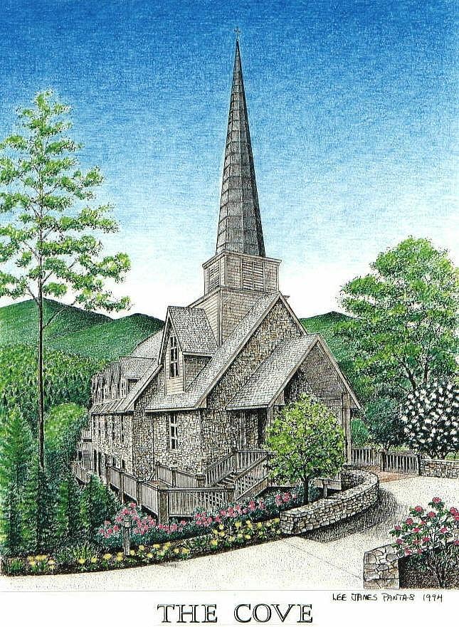 Church Glass Art - Chatlos Chapel at The Cove by Lee Pantas