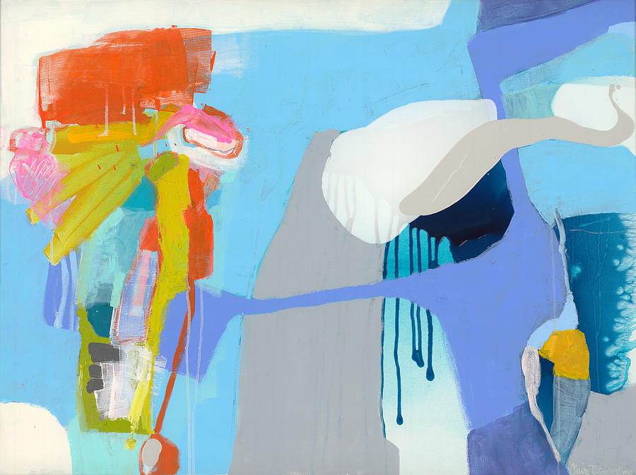 Abstract Painting - Chatting With The Mirror by Claire Desjardins