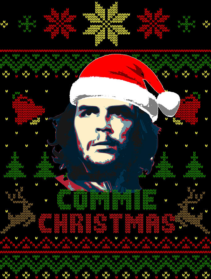 Santa Digital Art - Che Guevara Commie Christmas by Filip Schpindel