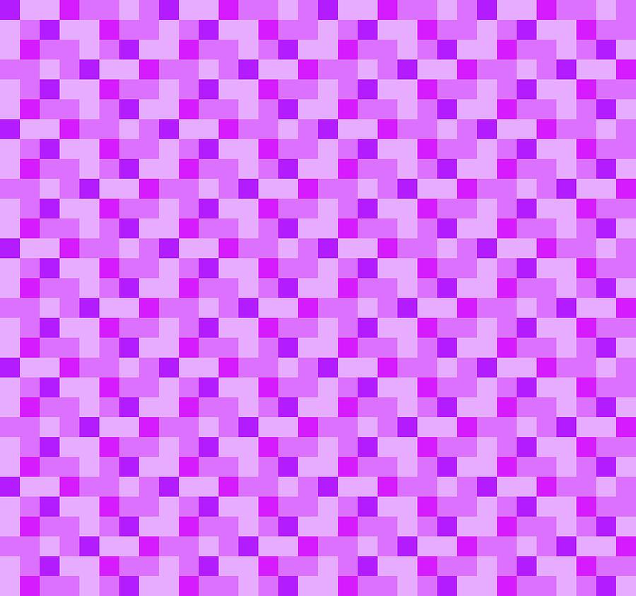 Check Asymmetrical Lilac by Max Coffey