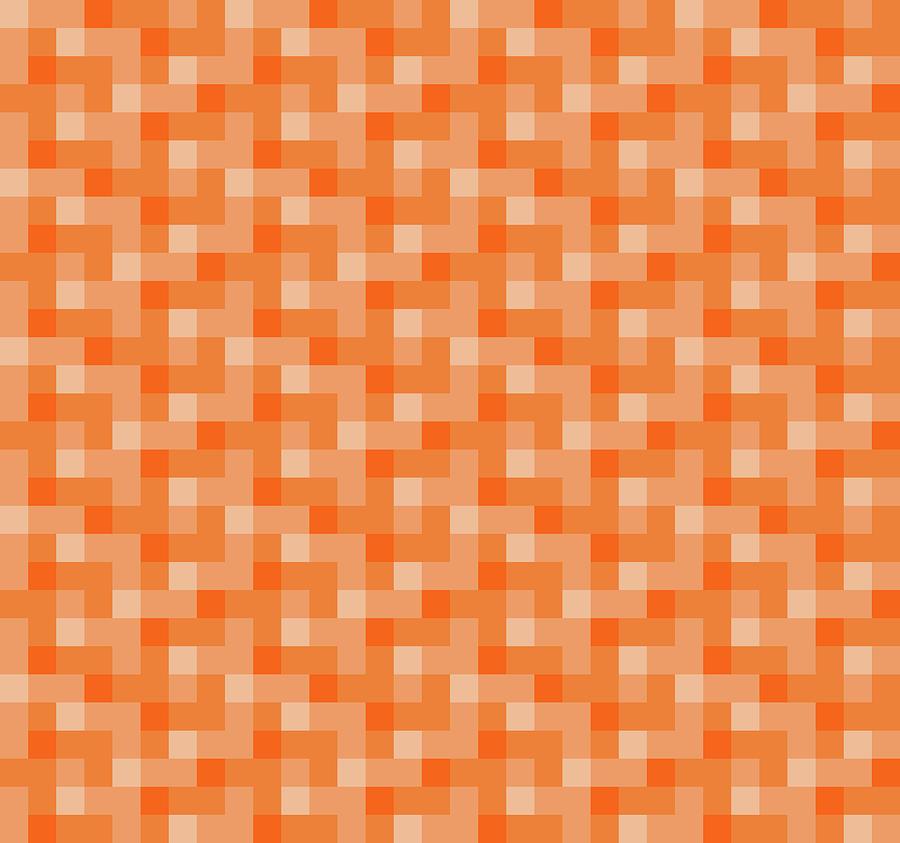 Check Asymmetrical Peach by Max Coffey