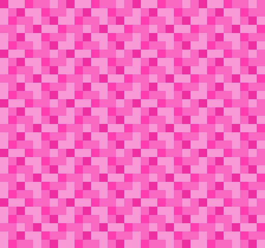 Check Asymmetrical Pink by Max Coffey