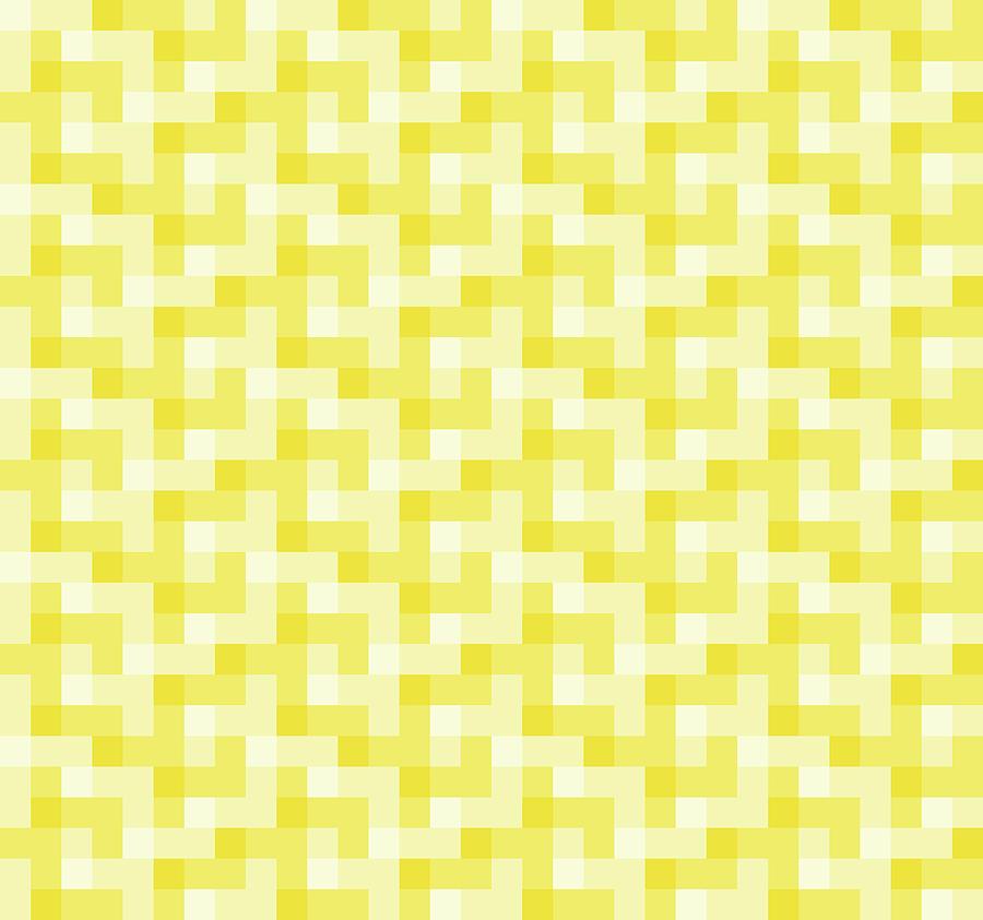 Check Asymmetrical Yellow by Max Coffey