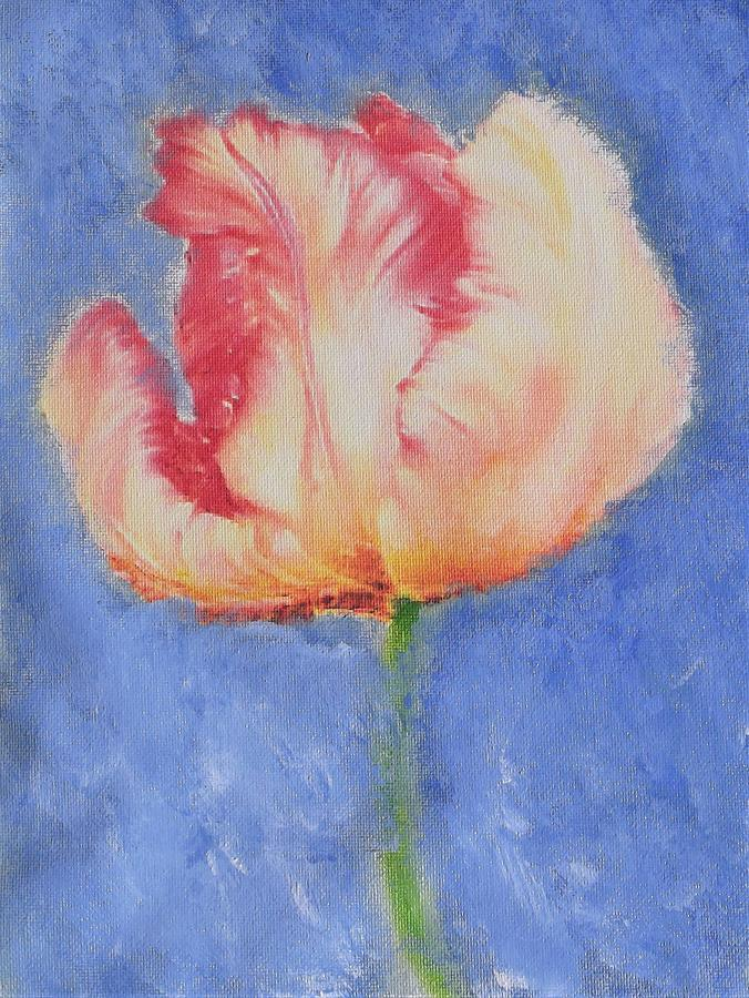 Cheeky Parrot Tulip Painting