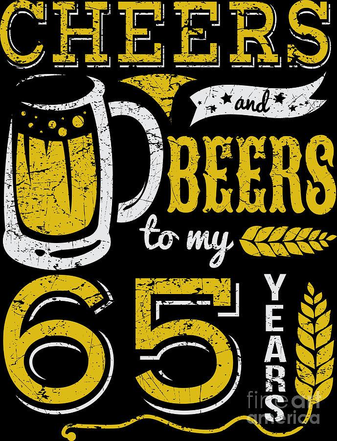 65 AUJOURD/'HUI ~ Cheers ~ bière et vin ~ 65th CARTE D/'ANNIVERSAIRE ~ Gratuit p/&p