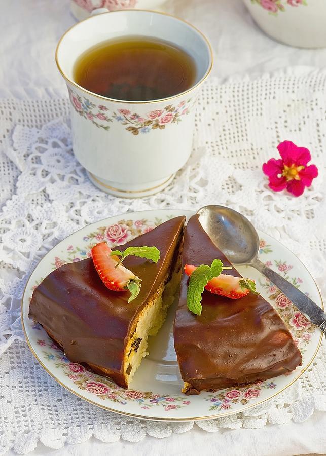 Cheesecake Photograph by Zoryana Ivchenko