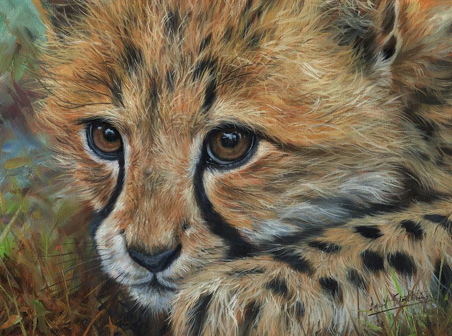 Cheetah Cub Close Painting