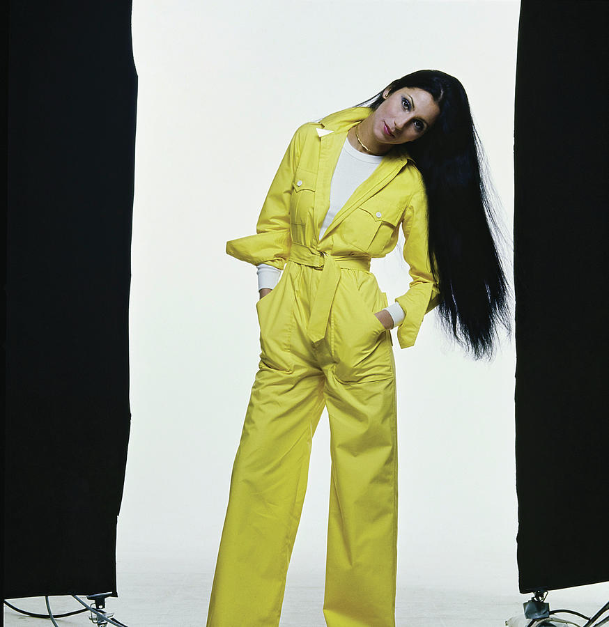 Cher in Ralph Lauren Jumpsuit Photograph by Chris von Wangenheim