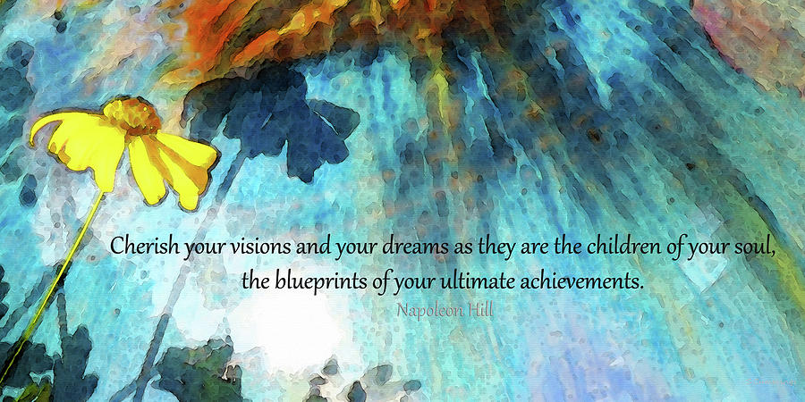 Happy Painting - Cherish Your Dreams - Inspirational Art - Sharon Cummings by Sharon Cummings