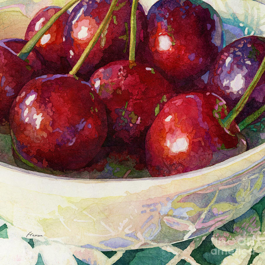 Cherries Jubilee-square Format Painting