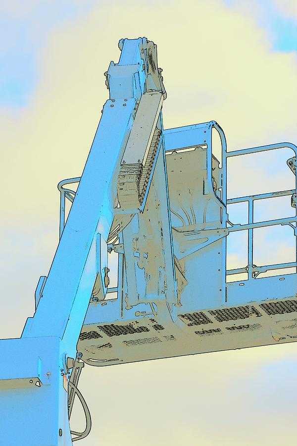 Cherry Picker And Clouds Photograph