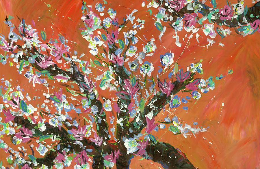 Cherry Tree Painting by Britt Miller