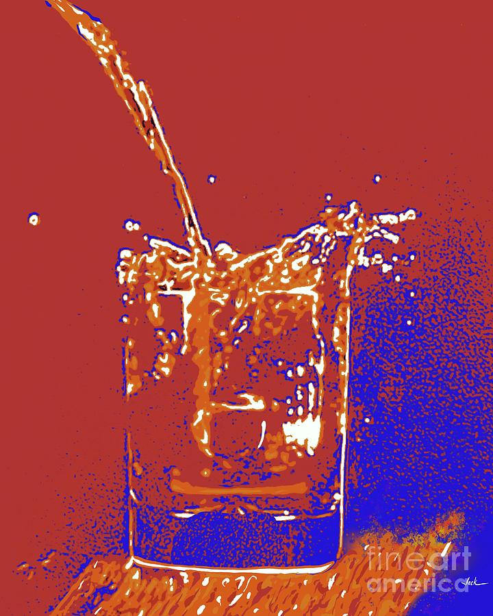 Drink Painting - Cherry with a Splash by Jack Bunds