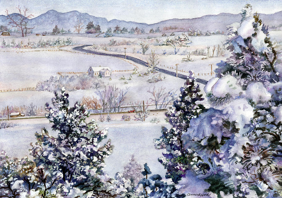 Cherryvale Road Painting by Anne Gifford