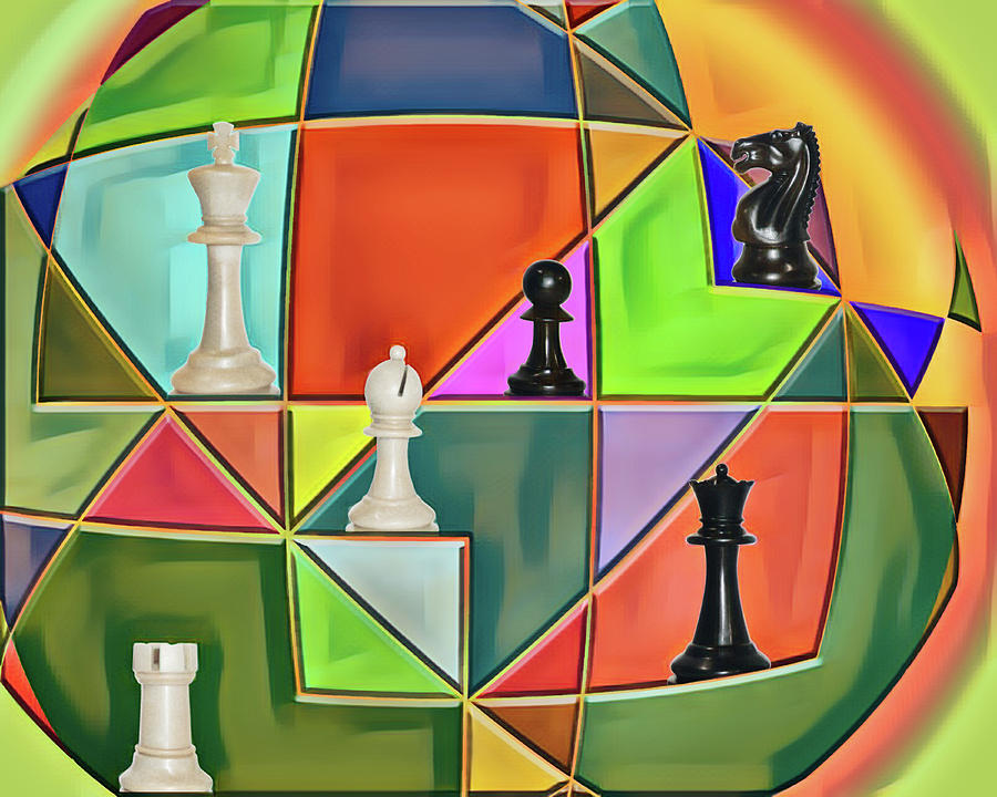Geometry Digital Art - Chess In The Round by John Haldane